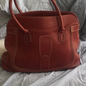 Tods red leather bag.